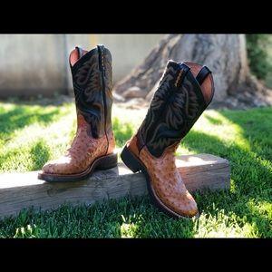 Ariat Round Toe Ostrich Boots